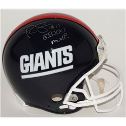 "Phil Simms Signed Giants Full-Size Authentic Pro-Line Helmet Inscribed ""S.B.XXI M.V.P."" (Steiner COA"