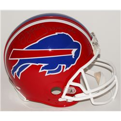 "Jim Kelly Signed Bills Full-Size Authentic Pro-Line Helmet Inscribed ""35,467 yds"" (Steiner COA)"