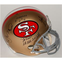 "Joe Montana  John Taylor Signed 49ers Full-Size Helmet with Hand-Drawn Play Inscribed ""The Drive""  """