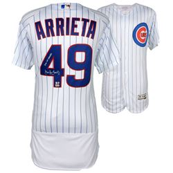 Jake Arrieta Signed Cubs Authentic Majestic 2016 World Series Jersey Inscribed  2016 WS Champs  (Fan