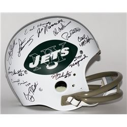 1969 Jets TK Suspension Helmet Team Signed by (24) with Joe Namath, Don Maynard, Paul Crane, Earl Ch