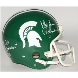 "Morten Andersen Signed Michigan State Spartans Full-Size Helmet Inscribed ""Go Green"" (Radtke Hologra"