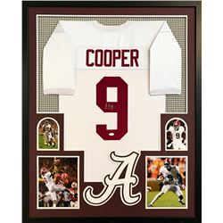 "Amari Cooper Signed Alabama Crimson Tide 34"" x 42"" Custom Framed Jersey (JSA COA)"
