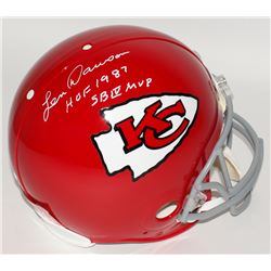 "Len Dawson Signed Chiefs Full-Size Authentic Pro-Line Helmet Inscribed ""HOF 1987""  ""SB IV MVP"" (JSA"