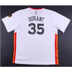 Kevin Durant Signed Warriors Chinese New Year Adidas Swingman Jersey (Panini COA)