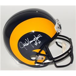 "Jack Youngblood Signed Rams Full-Size Helmet Inscribed ""HF 01"" (JSA COA)"
