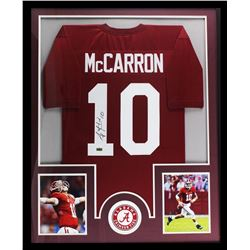 "AJ McCarron Signed Alabama Crimson Tide 34"" x 42"" Custom Framed Jersey (Radtke COA)"