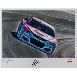 Kyle Larson Signed NASCAR Limited Edition Metallic 11x14 Photo #/42 (PA COA)
