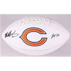 "Mike Singletary Signed Bears Logo Football Inscribed ""HOF 98"" (JSA COA)"