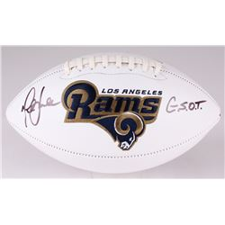 "Marshall Faulk Signed Rams Logo Football Inscribed ""G.S.O.T."" (JSA COA)"