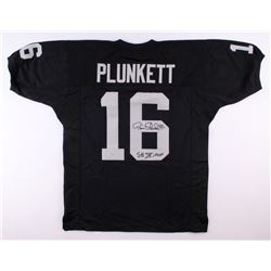 "Jim Plunkett Signed Raiders Jersey Inscribed ""SB XV MVP"" (Radtke COA)"