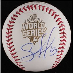 Salvador Perez Signed 2015 World Series Baseball (MLB Hologram)