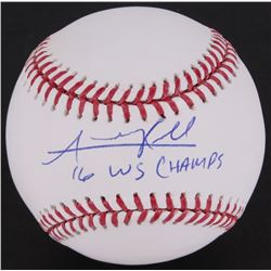 "Addison Russell OML Baseball Inscribed ""16 WS Champs"" (MLB Hologram)"