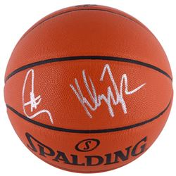 Stephen Curry  Klay Thompson Signed Basketball (Fanatics Hologram)