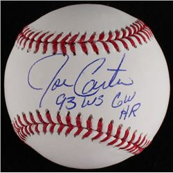 "Joe Carter Signed OML Baseball Inscribed ""93 WS GW HR"" (MLB Hologram)"