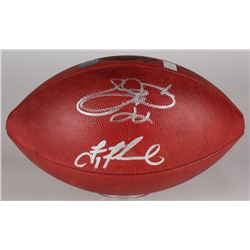 Emmitt Smith  Troy Aikman Signed Super Bowl XXVIII NFL Official Game Ball (Smith  Aikman Hologram, P