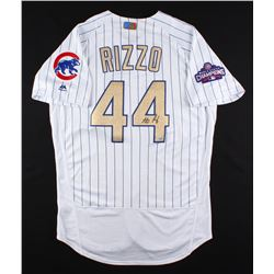 Anthony Rizzo Signed Cubs Authentic Majestic 2016 World Series Jersey (Fanatics  MLB)