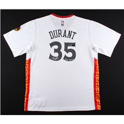 """Kevin Durant Signed LE Warriors Chinese New Years Adidas Jersey Inscribed """"Dub Nation"""" (Panini COA)"""