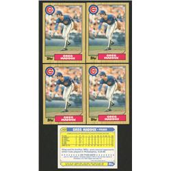 Lot of (5) 1987 Topps Traded #70T Greg Maddux RC