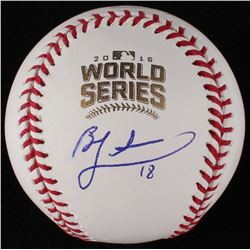 Ben Zobrist Signed World Series Baseball (JSA COA)