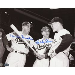 Pee Wee Reese  Duke Snider Signed 8x10 Photo With Mickey Mantle (FSC COA)