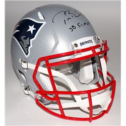 "Tom Brady Signed Patriots Super Bowl 51 Full-Size Authentic Pro-Line Speed Helmet Inscribed ""SB 51 M"