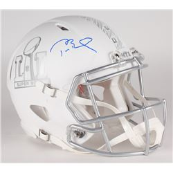Tom Brady Signed LE Super Bowl 51 Custom Matte White ICE Authentic Proline Speed Helmet (Tristar Hol