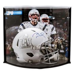 Tom Brady Signed LE Super Bowl 51 Custom Matte White ICE Authentic Proline Speed Helmet with Curve D