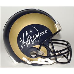 "Kurt Warner Signed Rams Full-Size Authentic Helmet Inscribed ""HOF 17"" (JSA COA)"