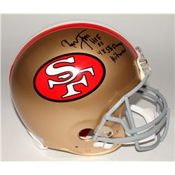 "Ronnie Lott Signed 49ers Full-Size Authentic Helmet Inscribed ""HOF 00"", ""4x SB Champ"",  ""Hitman"" (Be"