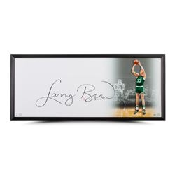 "Larry Bird Signed Celtics ""The Show"" 20x46 Custom Framed Photo (UDA COA)"
