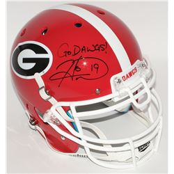 "Hines Ward Signed Georgia Bulldogs Full-Size Authentic Helmet Inscribed ""Go Dawgs!"" (JSA COA)"
