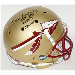 Fred Biletnikoff Signed Florida State Seminoles Full-Size Helmet Inscribed  1655 YDS ,  20 TD's ,