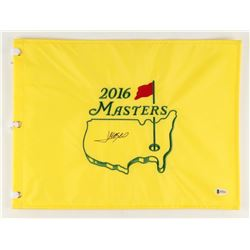 Jose Maria Olazabal Signed 2016 Masters Tournament 13  x 17.5  Golf Pin Flag (Beckett COA)