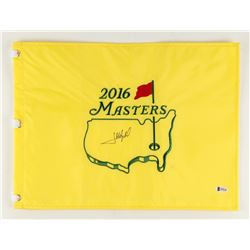 "Jose Maria Olazabal Signed 2016 Masters Tournament 13"" x 17.5"" Golf Pin Flag (Beckett COA)"