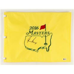 "Gary Player Signed 2016 Masters Tournament 13"" x 17.5"" Golf Pin Flag (Beckett COA)"