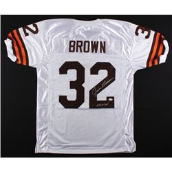 "Jim Brown Signed Browns Jersey Inscribed ""HOF 71"" (JSA COA)"