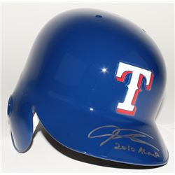 "Josh Hamilton Signed Rangers Full-Size Batting Helmet Inscribed ""2010 AL MVP"" (MLB Hologram)"
