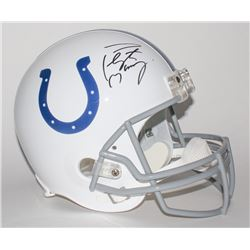 Peyton Manning Signed Colts Full-Size Helmet (Fanatics Hologram)