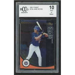 2001 Finest #134 Jose Reyes PROS RC #704/999 (BCCG 10)
