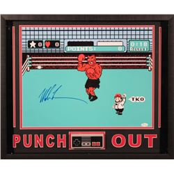 "Mike Tyson Signed ""Punch-Out"" 21x25 Custom Framed Photo Display (JSA)"