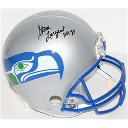 "Steve Largent Signed Seahawks Throwback Full-Size Authentic Helmet Inscribed ""HOF 95"" (JSA COA)"