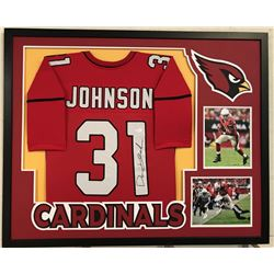 "David Johnson Signed Cardinals 34"" x 42"" Custom Framed Jersey (JSA COA)"