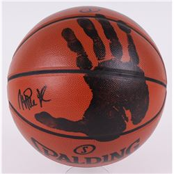 Magic Johnson Signed NBA Basketball with Original Handprint (JSA LOA)
