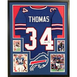 "Thurman Thomas Signed Bills 34"" x 42"" Custom Framed Jersey (JSA COA)"