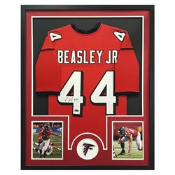 "Vic Beasley Signed Falcons 34"" x 42"" Custom Framed Jersey (Radtke COA)"