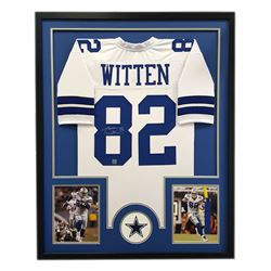 "Jason Witten Signed Cowboys 34"" x 42"" Custom Framed Jersey (Witten Hologram)"