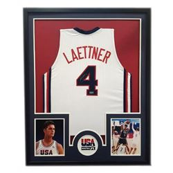 "Christian Laettner Signed Team USA 34"" x 42"" Custom Framed Jersey (Radtke COA)"