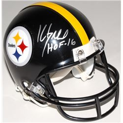 "Kevin Greene Signed Steelers Speed Mini Helmet Inscribed ""HOF '16"" (Radtke COA)"