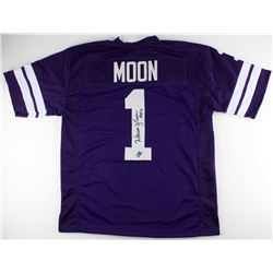 "Warren Moon Signed Washington Huskies Jersey Inscribed ""HOF 06"" (Moon Hologram)"
